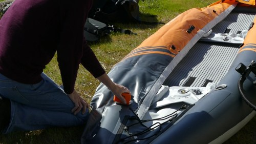 Inflating with the Kokopelli Feather pump