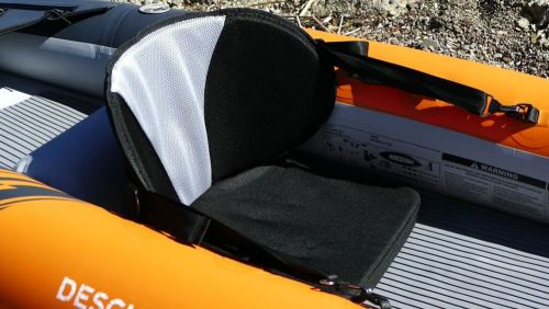 Padded seat with mesh cover for breathability