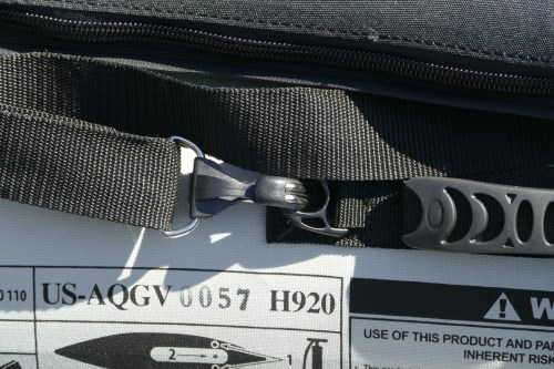 Seat clips/d-rings on the side carrying handle