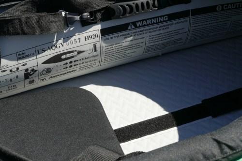 Velcro strips on the floor.
