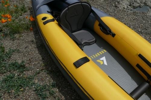 Velcro paddle holders.