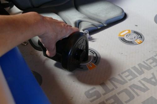 Using the 12-Volt car pump