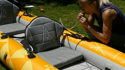 Inflating the lumbar support