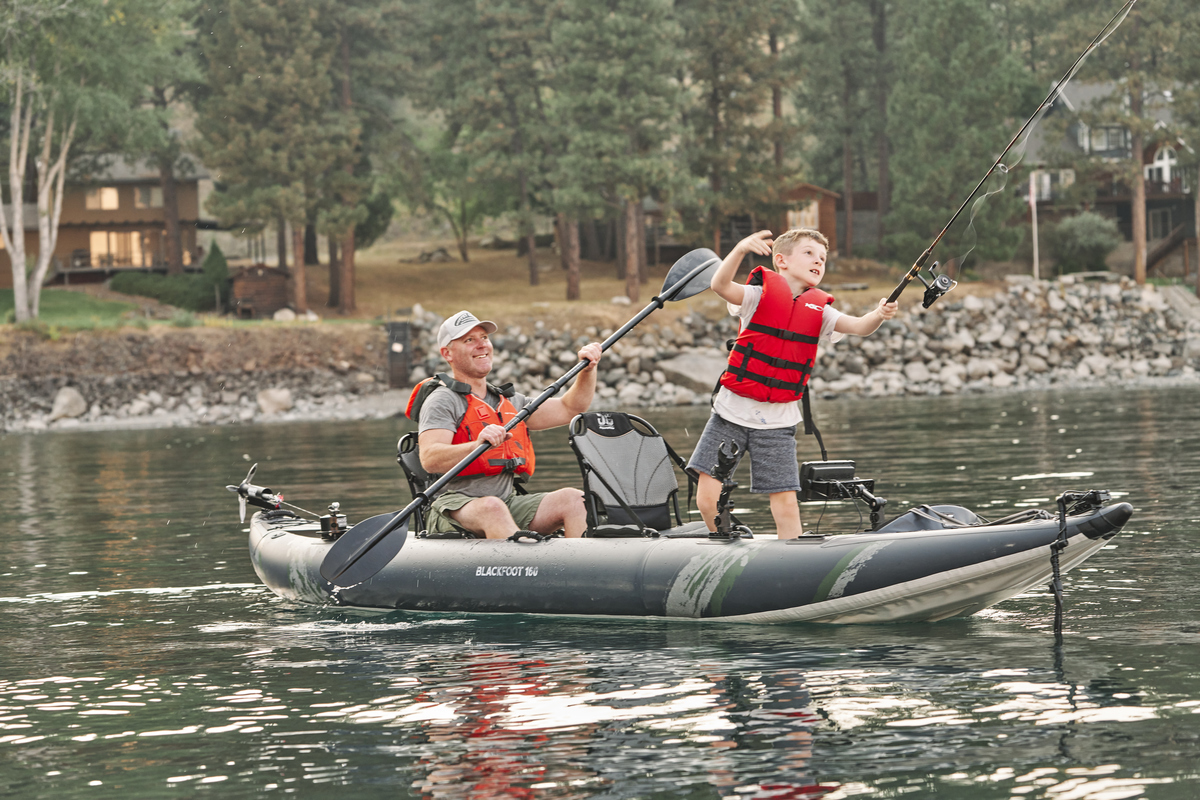 Aquaglide Blackfoot 160 Inflatable FIshing Kayak