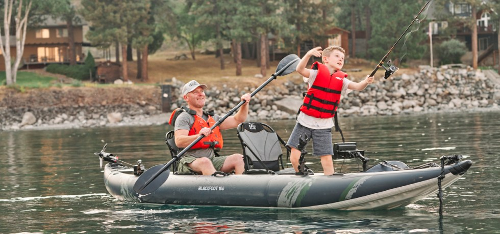 Aquaglide Blackfoot 160 Inflatable FIshing Kayak