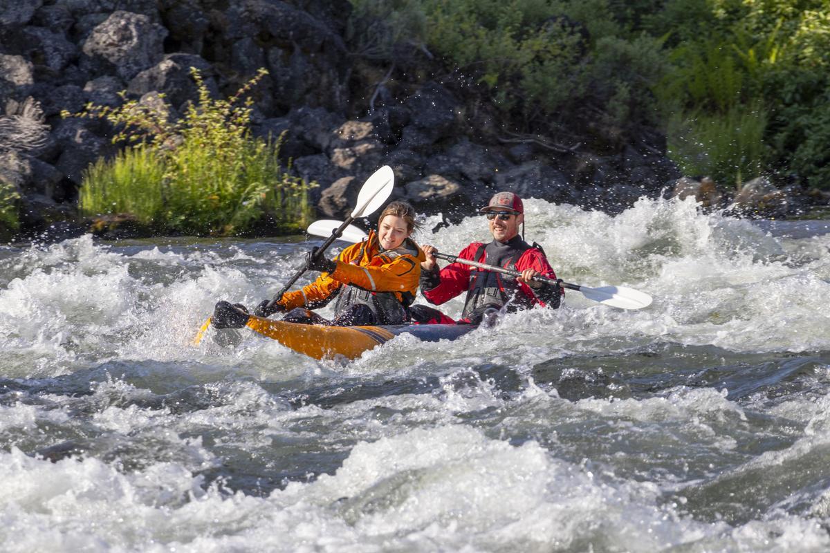 Aquaglide McKenzie 125 Inflatable Whitewater Kayak
