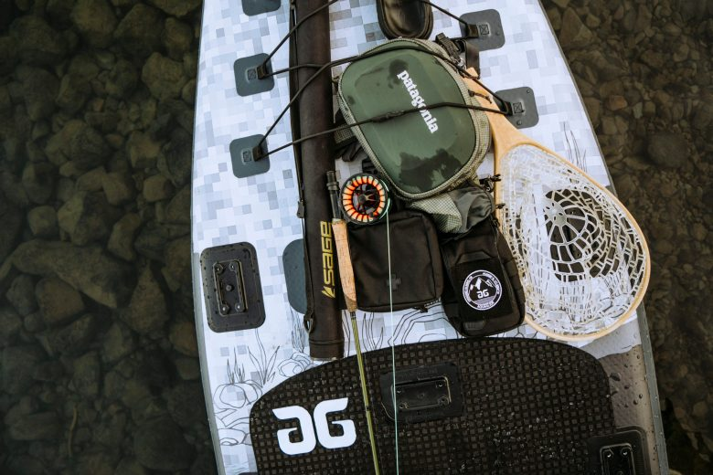 Blackfoot Angler 11 SUP loaded with Gear