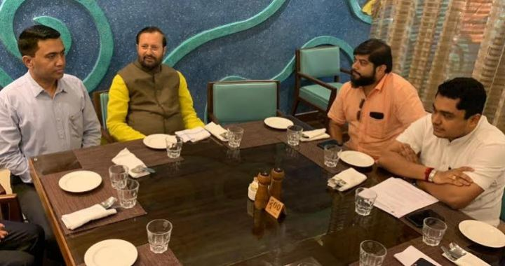 GOA – K'TAKA MADHAI ROW: MOEF MINISTER JAVADEKAR MEETS ACTIVIST AND OPPOSITION, ASSURES TO RESOLVE ROW IN 15 DAYS