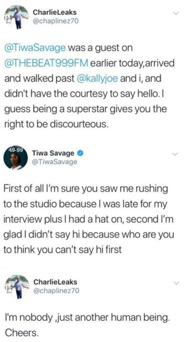 Sports Presenter Charles Anazodo In BIG Clash With Tiwa Savage