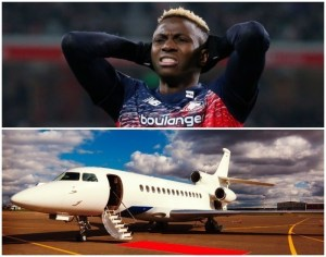 Lille Osimhen Private Jet Father's Funeral
