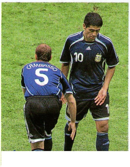 df6273ce5 Argentina s Riquelme is being substituted against Germany in 2006 World Cup