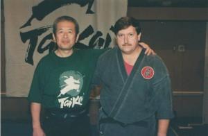 Hatsumi Sensei, our Grandmaster and Me.