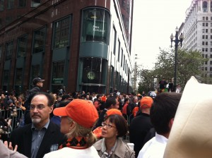 SF Giants WS Parade 1 San Francisco Celebrates their success. Giants Fans know how to celebrate.
