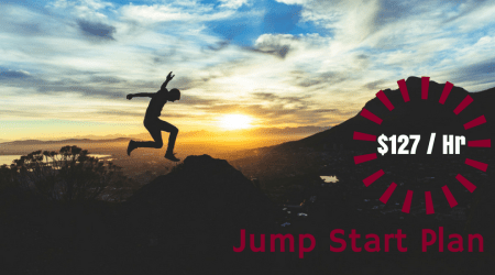 Jump Start Plan Coaching Plan for $127 per hour