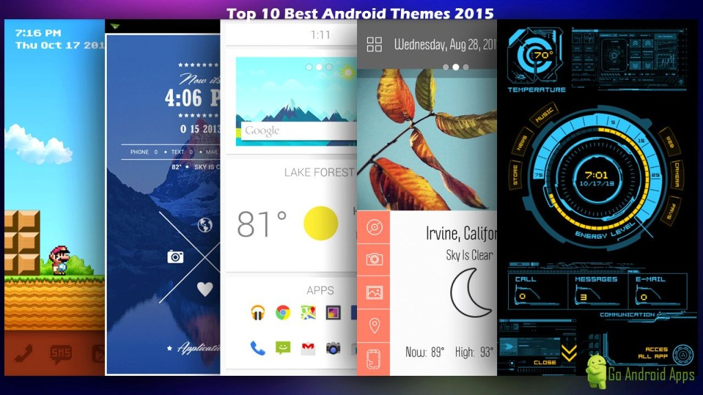 top 10 best android themes 2015, best android themes 2015, 2015 best ...