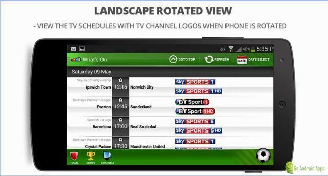 Live Football On TV App