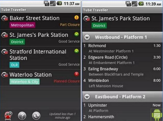 London Tube Traveller App