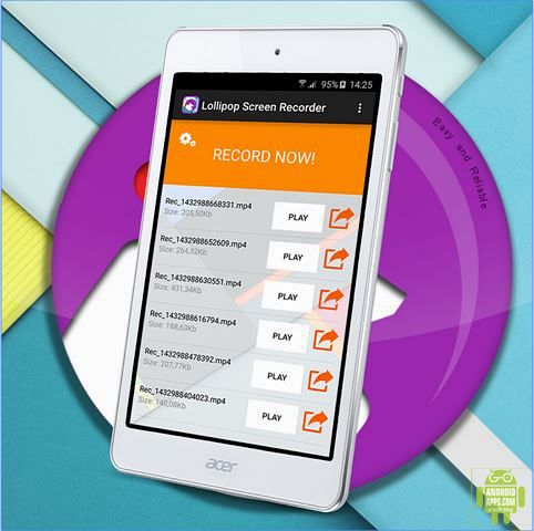 Best Screen Recorder Lollipop App
