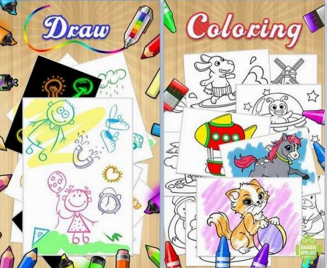 Color Draw & Coloring Books App