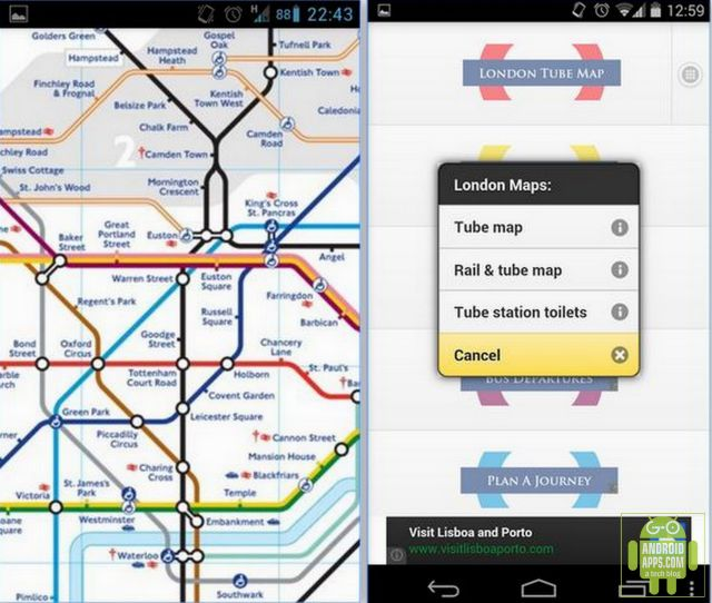 London Transport Planner App