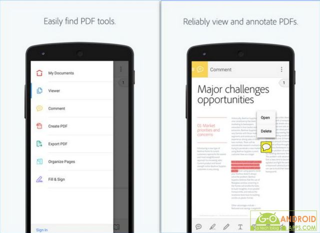 Adobe Acrobat Reader App