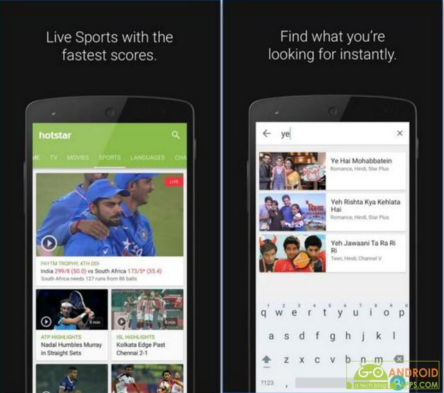 Hotstar TV Movies Live Cricket App