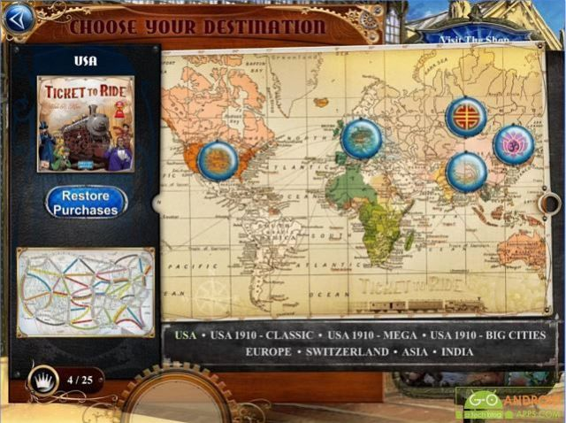 Ticket to Ride Android Board Game