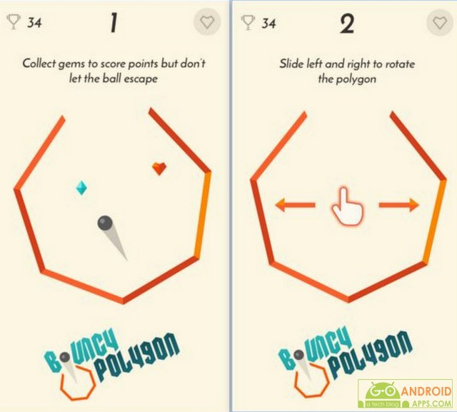 Bouncy Polygon Game