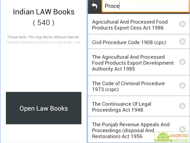 Indian Bare Acts (Law Books) App
