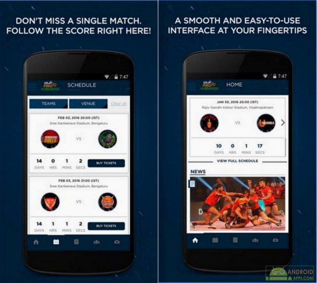 Star Sports Pro Kabaddi App