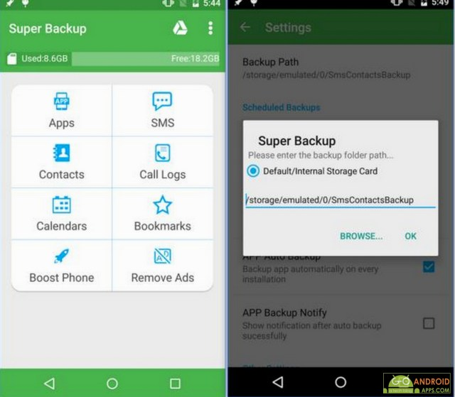 Super Backup Android App