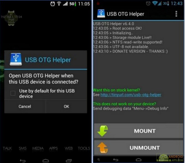 USB OTG Helper [root] App