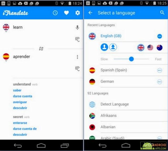 iTranslate - free translator app