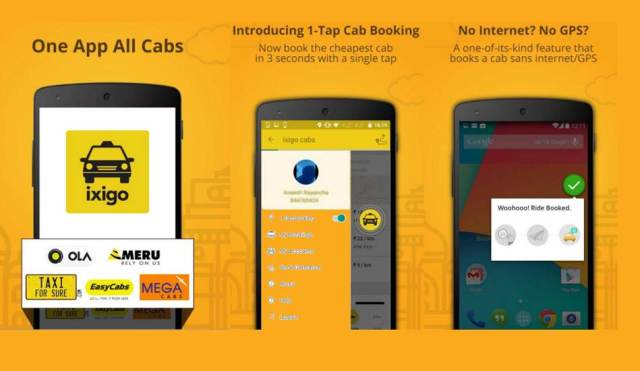 Ixigo cab booking