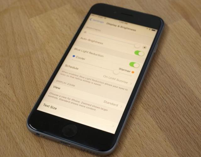 Night Shift in iOS 9.3