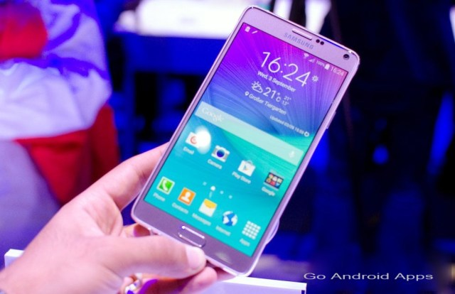 Samsung Galaxy Note 4 (Blossom Pink colour variant)