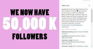 Myntra celebrating 50k followers!