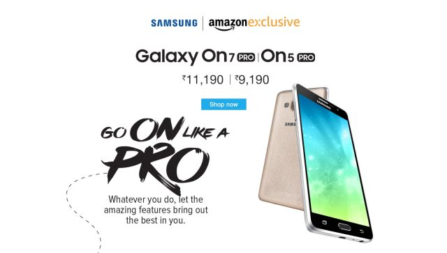 Samsung Galaxy On7 Pro and On5 Pro are finally available on Amazon