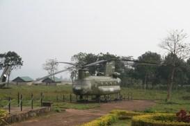 Erbeuteter Hubschrauber in Khe Sanh