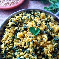 Methi Bhaji - Fenugreek Leaves and Urad Dal Recipe