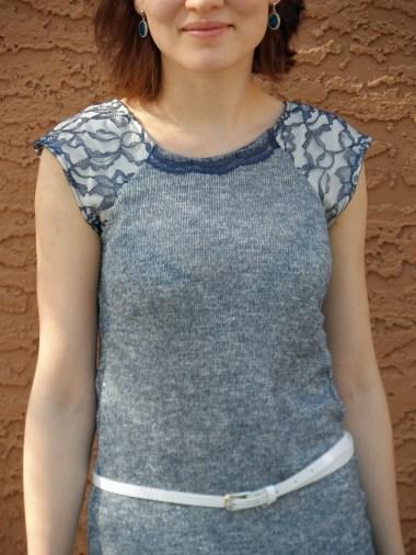 Blue knit dress 3
