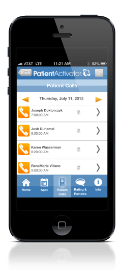 PA patientCalls_iphone_5