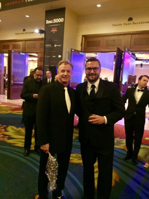 Chris Davis, CEO of Loot Crate, and me at the INC 5000 gala.