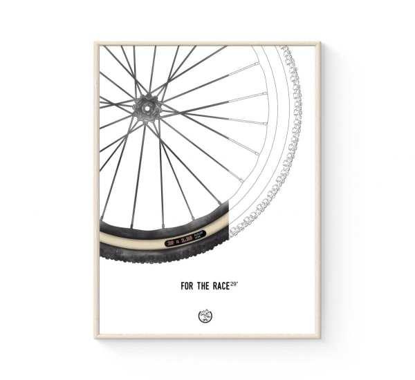 "MTB plakat 29"" - Fed Mountainbike Dæk plakat fra Goats & Trails"