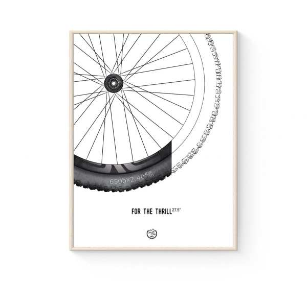 MTB dæk plakat 650b - Mountinbike poster fra Goats & Trails