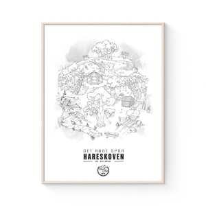 hareskoven MTB plakat - Danmarks Mountainbike Spor