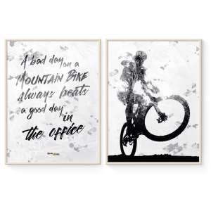 Mountainbike Statement Plakater i Sort/Hvid fra Goats & Trails