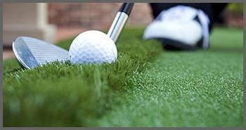 Golfing on synthetic turf