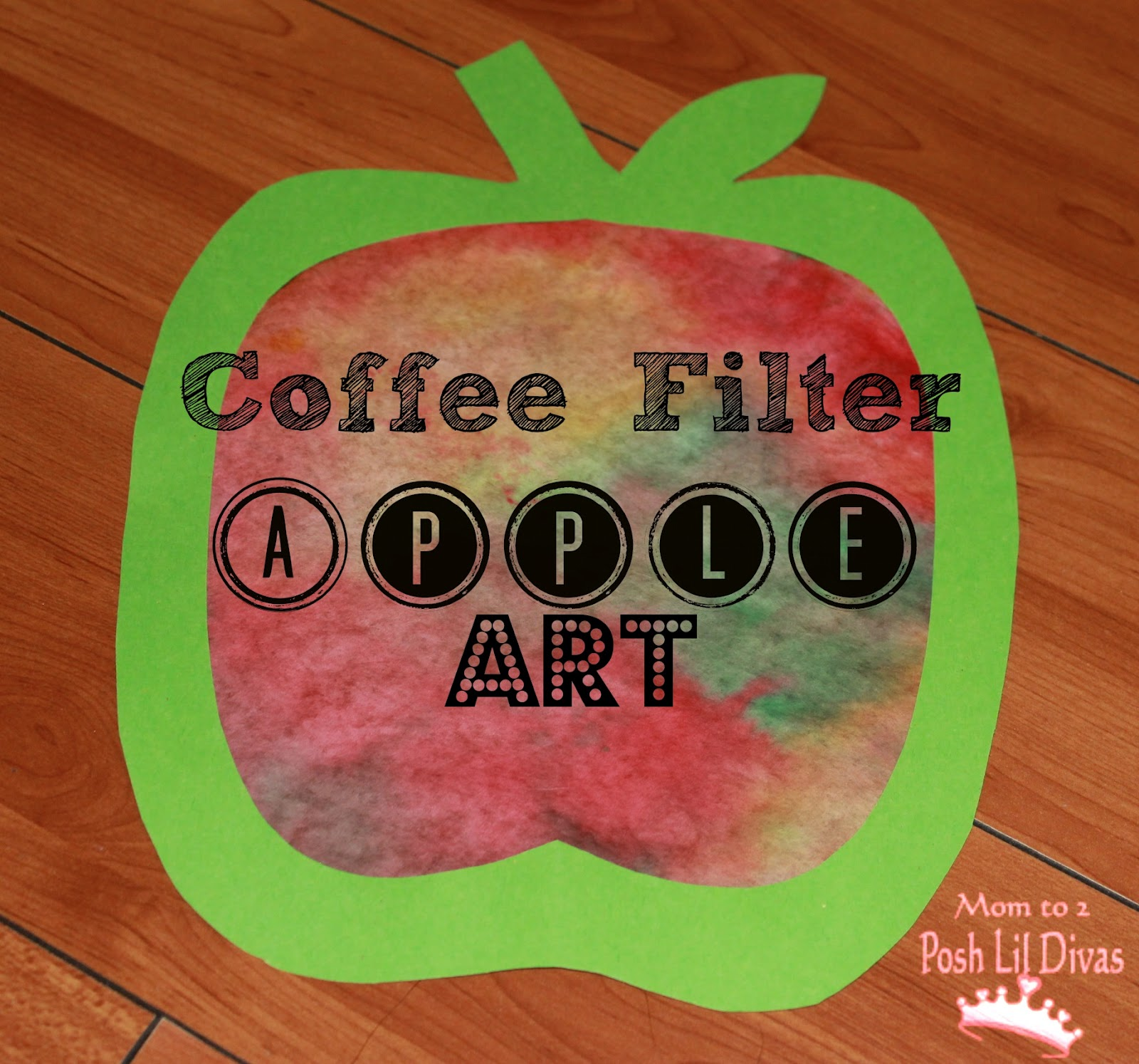 Coffee Filter Apple Art