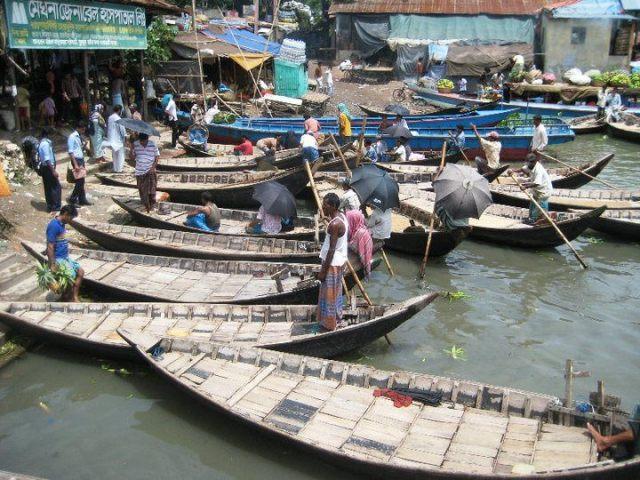 Dhaka's busy port